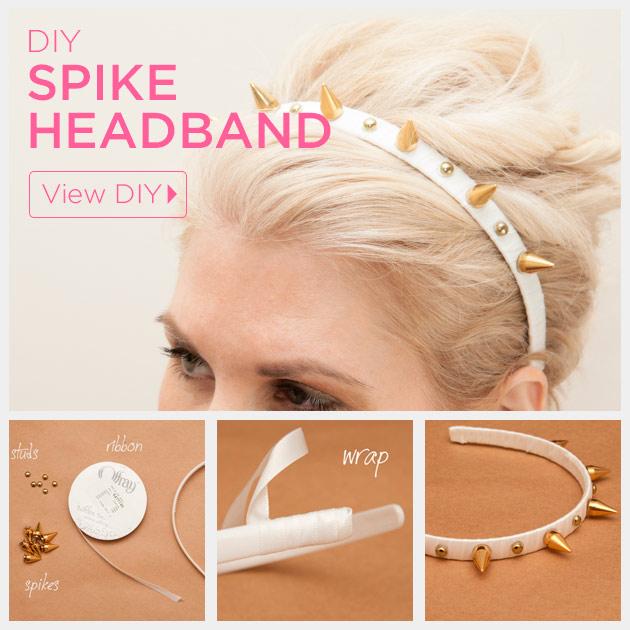 Spike Headband DIY by Trinkets in Bloom
