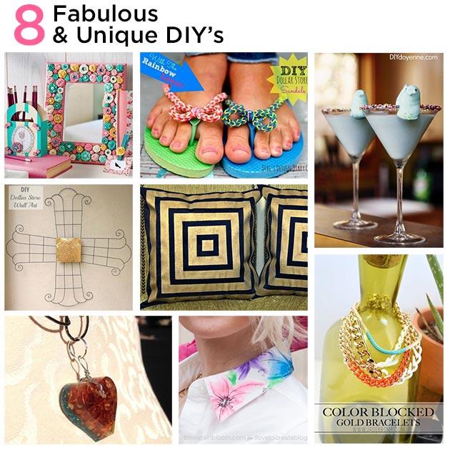 8 Fabulous and Unique DIY's Thurs-DIY