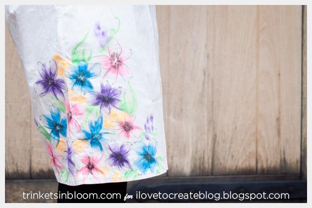 Watercolor Dress DIY Hem Close Up
