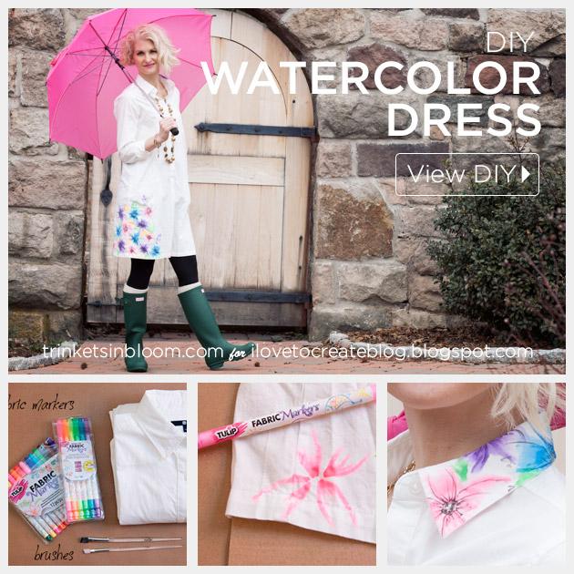 Watercolor Dress DIY feature by Trinkets in Bloom