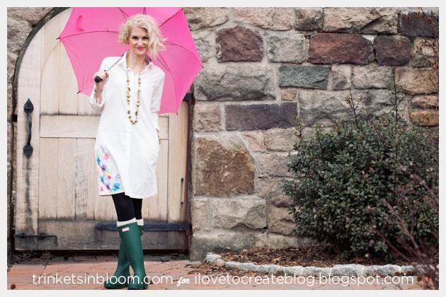 Watercolor Dress DIY Front