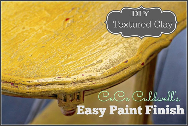 DIY Textured Clay using CeCe Caldwell's Easy Paint Finish