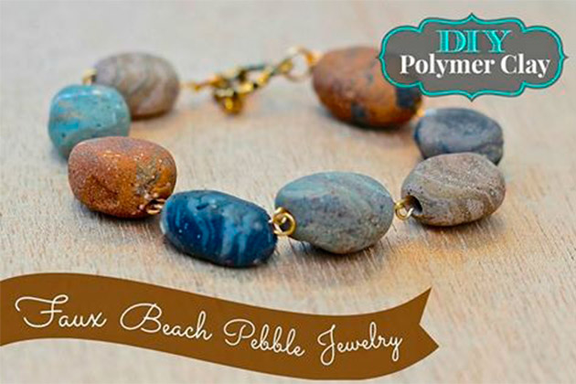 Faux Beach Pebble Jewelry
