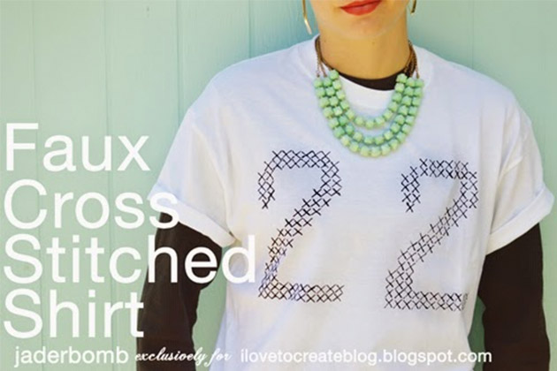 Faux Cross Stitched Shirt