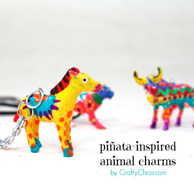 Piñata Inspired Animal Charms