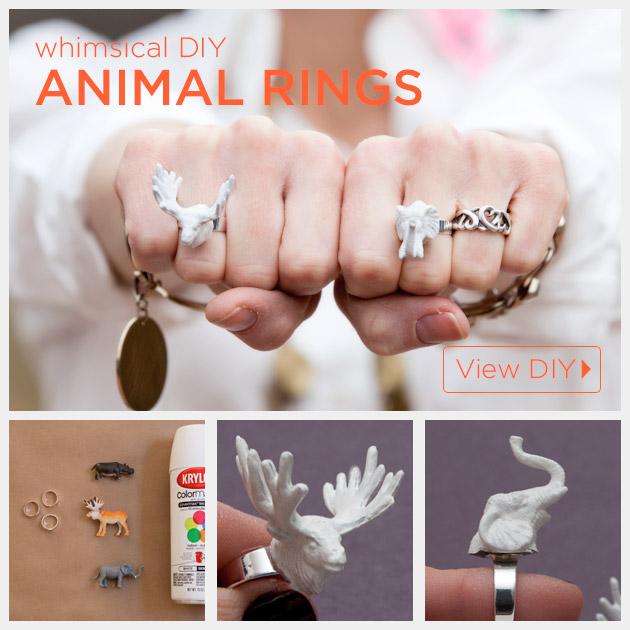 Animal Ring DIY Tutorial by Trinkets in Bloom