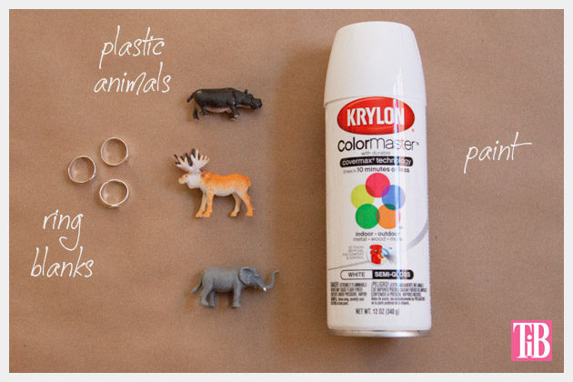 Animal Ring DIY Supplies