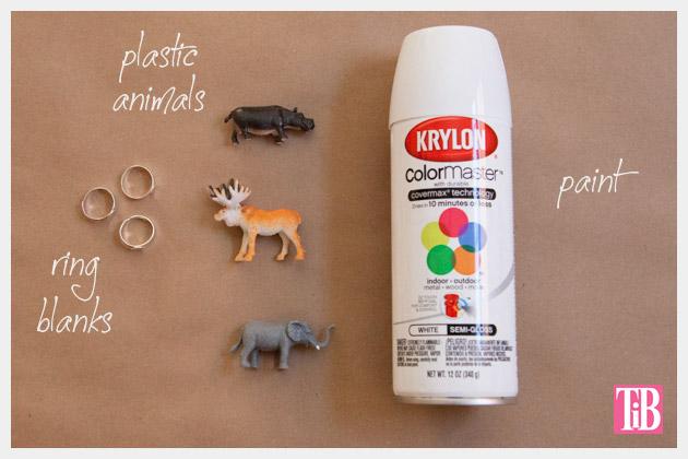 Animal Ring DIY Supplies