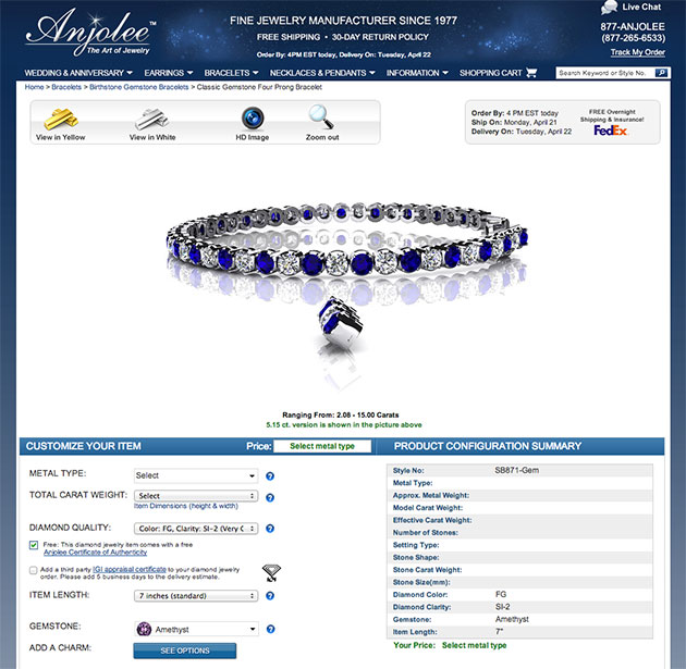 Anjolee Jewelry Website