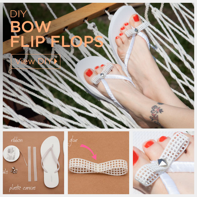 Bow Flip Flops DIY Feature by Trinkets in Bloom