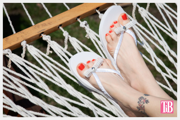 Bow Flip Flops DIY Photo