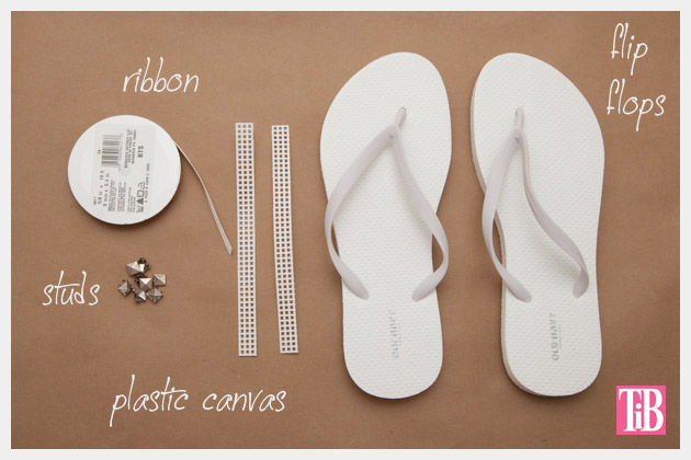 Bow Flip Flops DIY Supplies