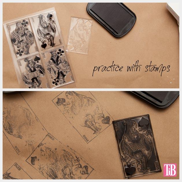 DIY Journals Stamps Practicing
