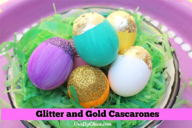 Glitter and Gold Cascarones by Crafty Chica