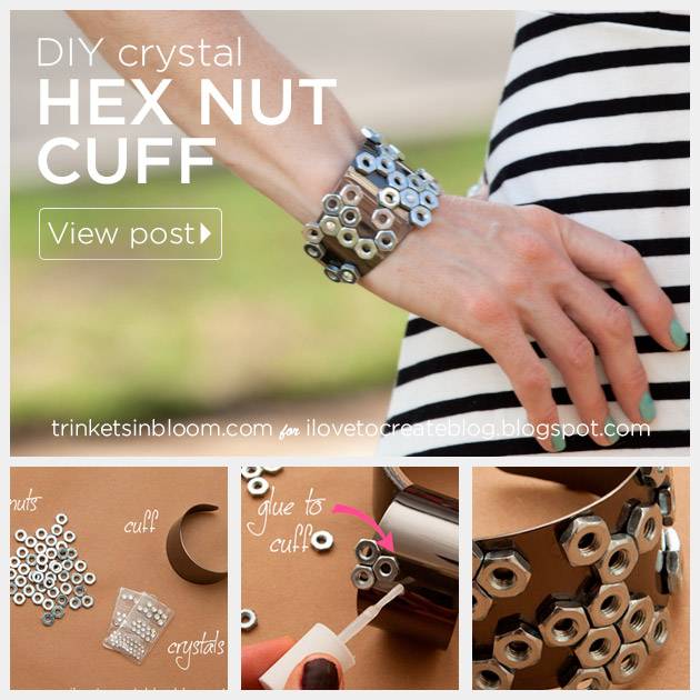 Hex Nut Cuff DIY by Trinkets in Bloom