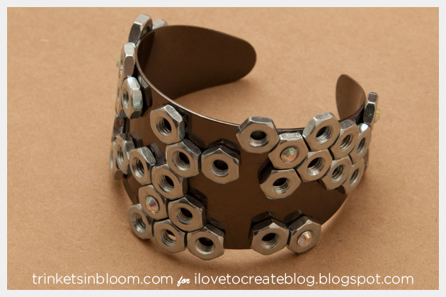 Hex Nut Cuff DIY Finished
