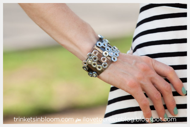 Hex Nut Cuff DIY Photo by Trinkets in Bloom