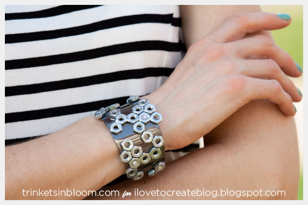Hex Nut Cuff DIY Photo 2 by Trinkets in Bloom