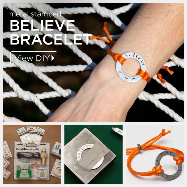 Metal Stamping Believe Bracelet Diy