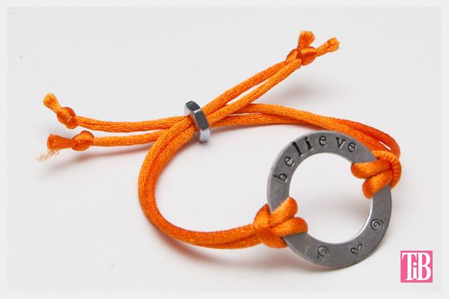 Metal Stamped Believe Bracelet DIY Photo Finished