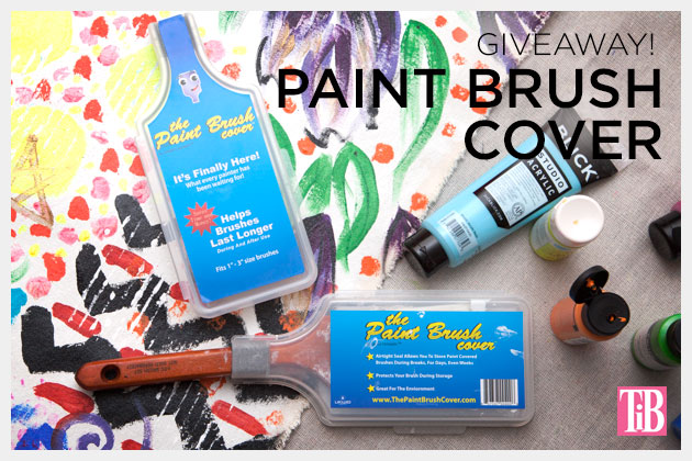 Paint Brush Cover Giveaway on Trinkets in Bloom