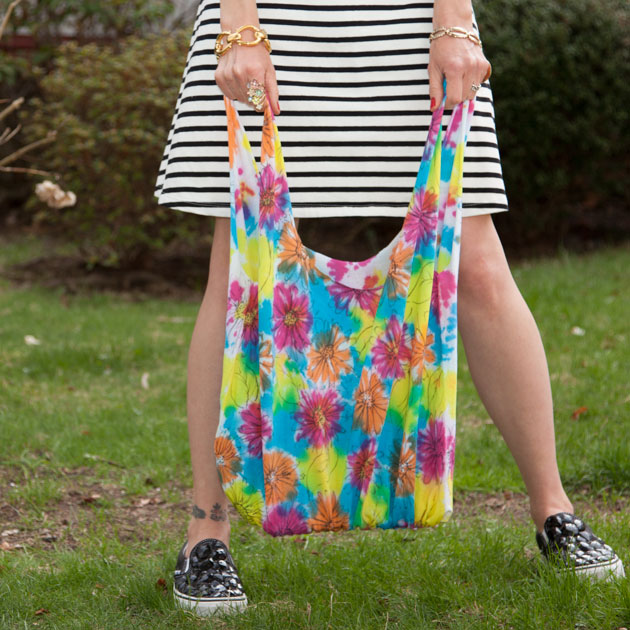 Painted No Sew Market Tote Bag DIY