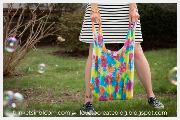 Painted No Sew Market Tote Photo Bubbles