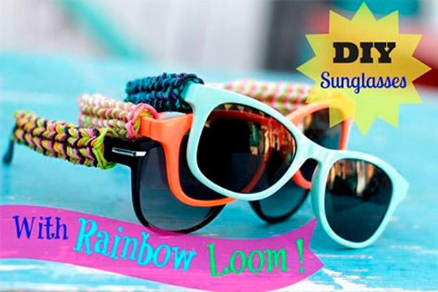 DIY Rainbow Loom Sunglasses