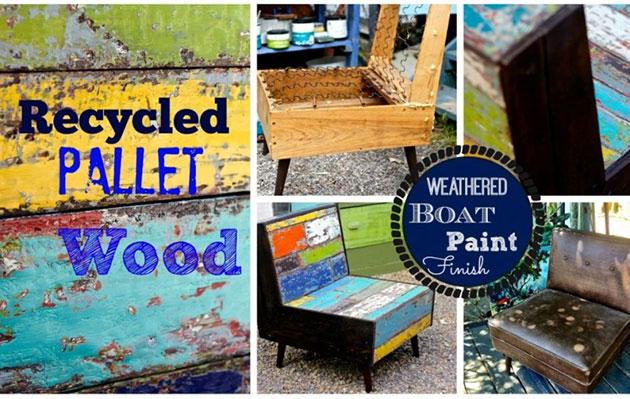 Weathered Boat Paint Finish DIY