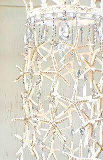 Starfish and Rhinestone Chandelier by Debi's Design Diary