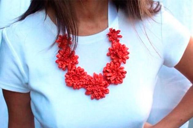 Floral Statement Necklace DIY
