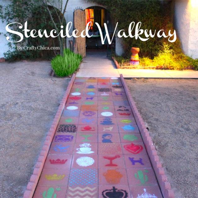 Stenciled Walkway