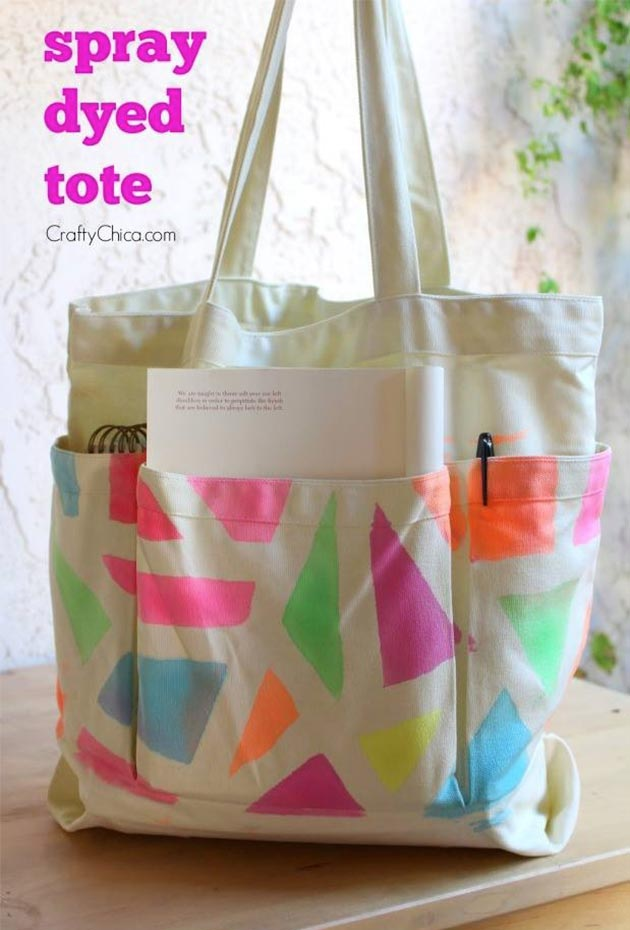 Spray Dyed Tote by Crafty Chica