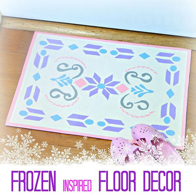Frozen inspired floor Decor