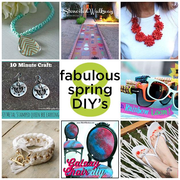 8 Fabulous spring DIY's
