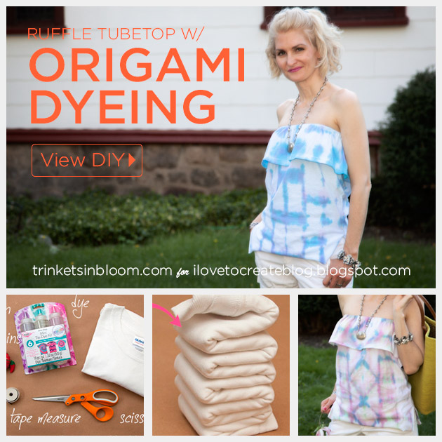 Origami Dyed Ruffle Tube Top by Trinkets in Bloom