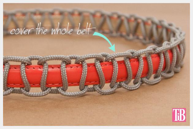 Paracord Belt DIY Close UP