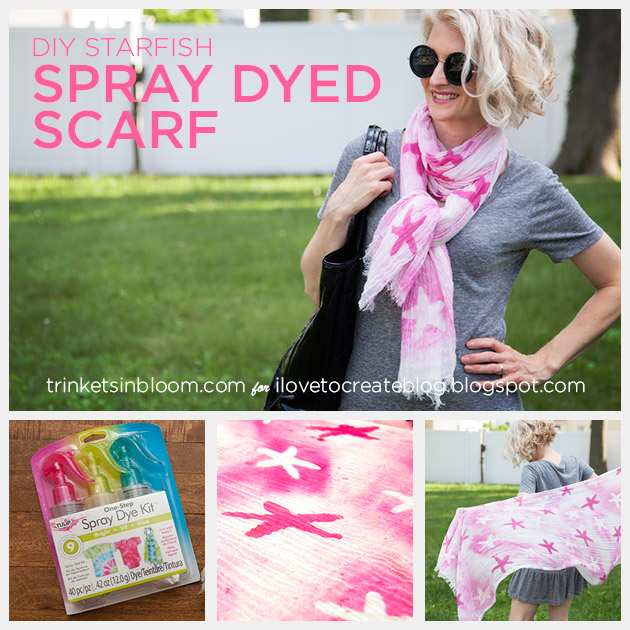 Spray Dyed Scarf by Trinkets in Bloom