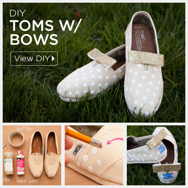 DIY Toms with Bows by Trinkets in Bloom
