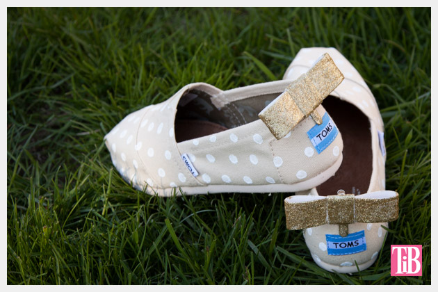 DIY Toms with Bows photo with bow in the back