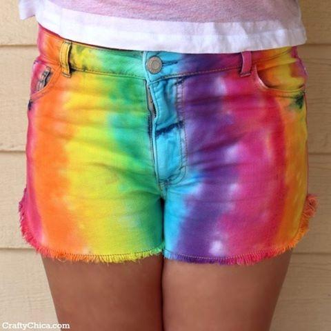 Rainbow Shorts DIY