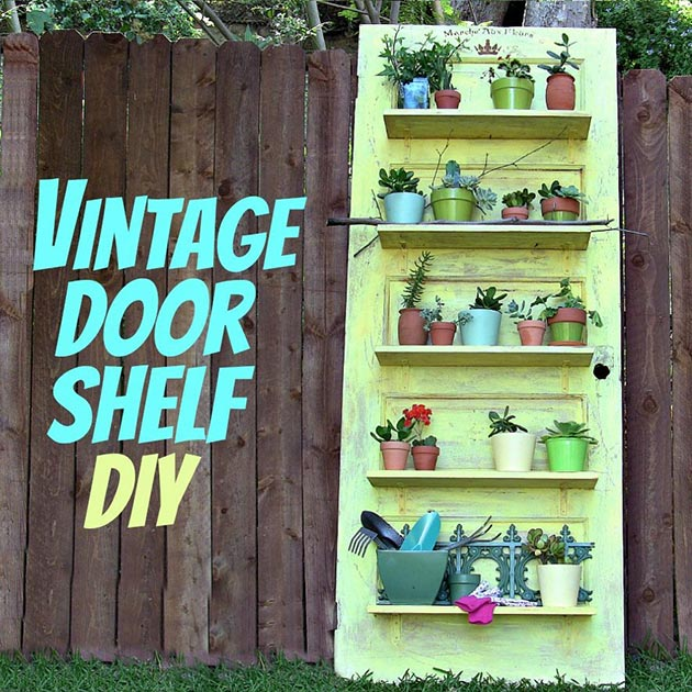 Vintage Door Shelf DIY