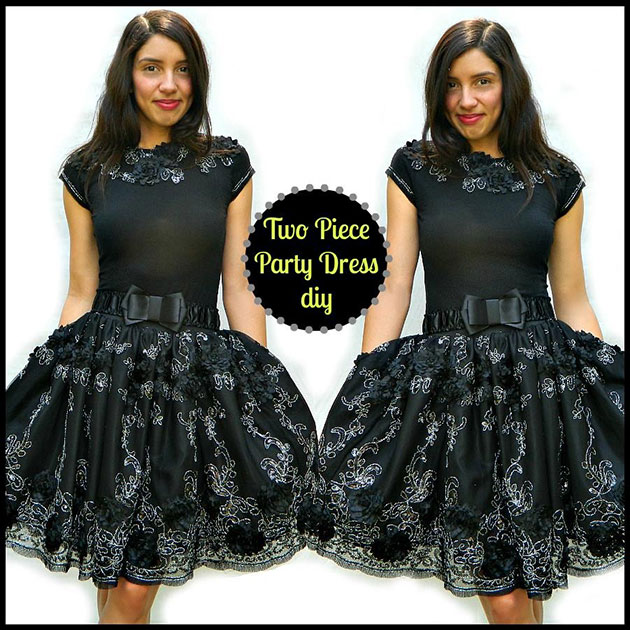 Two Piece Party Dress DIY