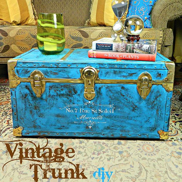 Vintage Trunk DIY