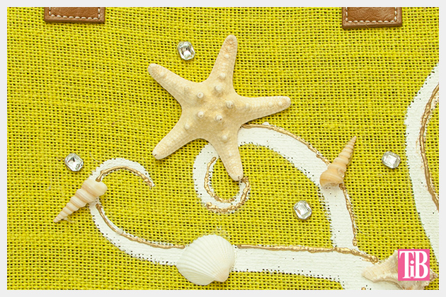 DIY Beach Tote With Shells Detail