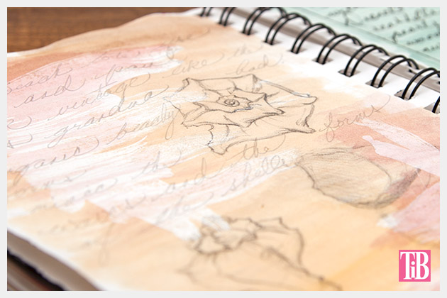 DIY Beach Tote with Shells Sketchbook 3