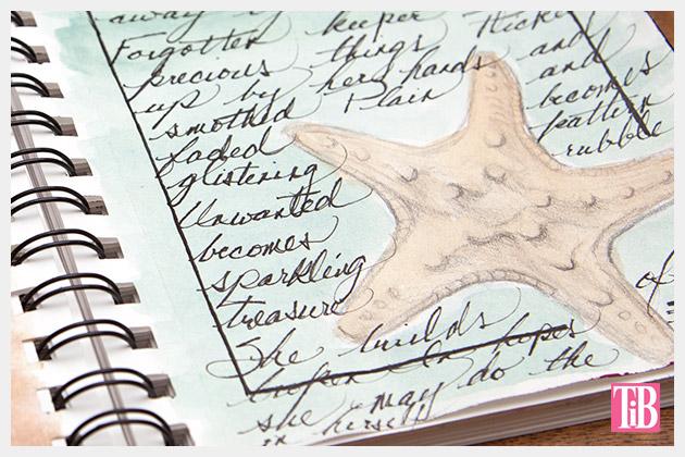 DIY Beach Tote with Shells Sketchbook 4