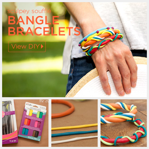 DIY Clay Bangle Bracelets by Trinkets in Bloom