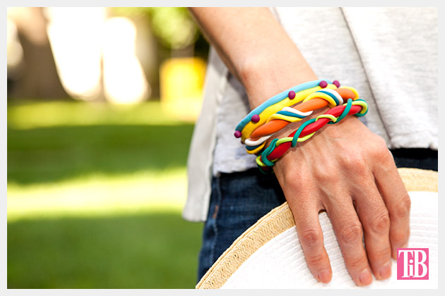 DIY Clay Bangle Bracelets photo