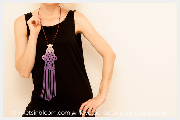 DIY Dip Dye Macrame Necklace Photo